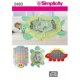 Crafts Blanket And Rug Simplicity Fabric Sewing Pattern 2493