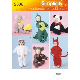 Simplicity Fabric Sewing Pattern 2506 Toddler Costumes