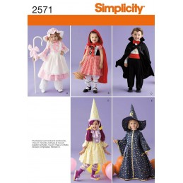 Toddler's Character Costumes and Hats Fabric Sewing Patterns 2571