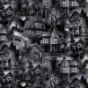 100% Cotton Fabric Timeless Treasures Halloween Haunted Mansion Spooky Scary