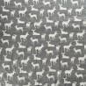 100% Cotton Fabric John Louden Grey Background Scandinavian Christmas Reindeer Stags Deer