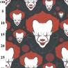 100% Cotton Digital Fabric Rose & Hubble IT Clown Horror Halloween 150cm Wide