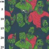 100% Cotton Digital Fabric Rose & Hubble Zombie Apocalypse Halloween 150cm Wide