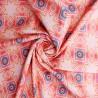 100% Cotton Digital Fabric Aztec Diamonds Squares Batik Abstract Shapes