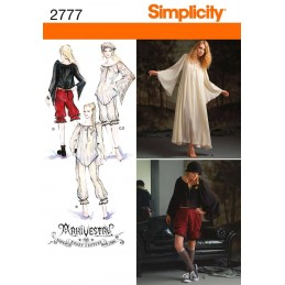 Misses Costumes Simplicity Fabric Sewing Pattern 2777