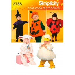 Simplicity Toddler Pumpkin Ladybird Witch Costume Sewing Pattern 2788