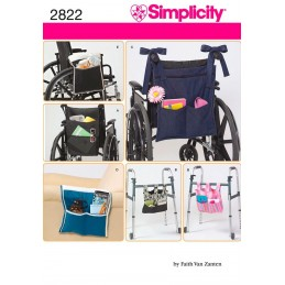 Simplicity Wheelchair & Walker Accessories Sewing Pattern 2822