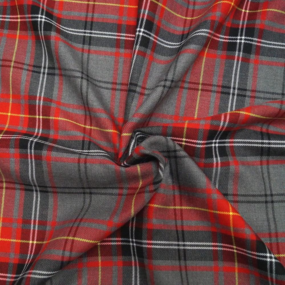 Polyviscose Tartan Fabric...
