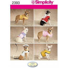 Simplicity Fabric Sewing Pattern 2393 Dog Clothes