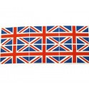 Sale 100% Cotton Fabric Flag Great Britain Union Jack 6 Flags Per Panel UK