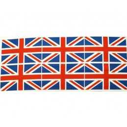 Sale 100% Cotton Fabric Flag Great Britain Union Jack 6 Flags Per Panel UK