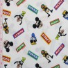 100% Cotton Digital Fabric Disney Mickey & Friends Donald Goofy Pluto 140cm Wide