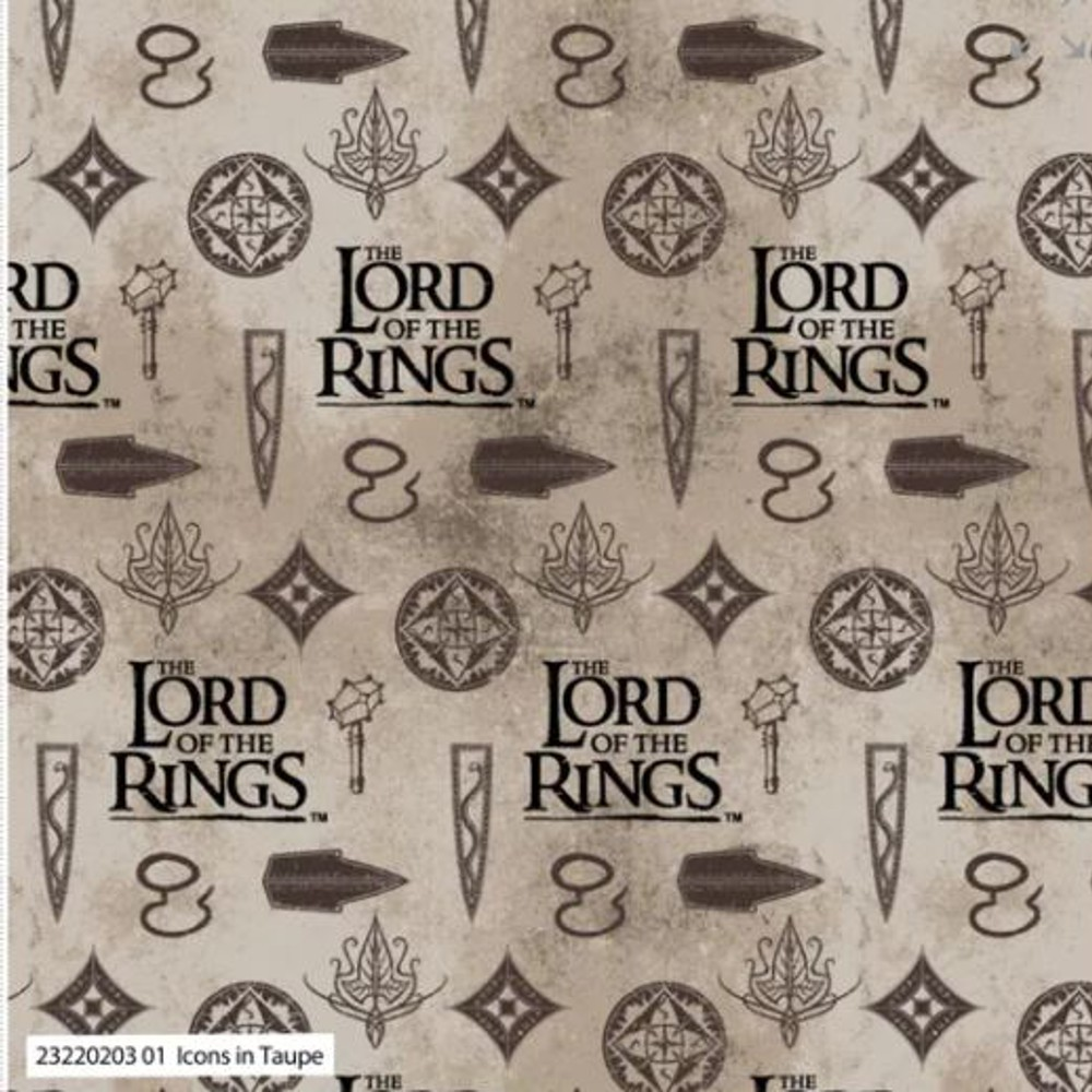 100% Cotton Fabric Lord of...