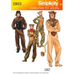 Adult Animal Costumes Simplicity Fabric Sewing Patterns 2853