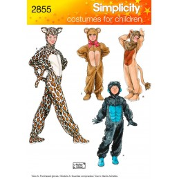 Simplicity Child Boy And Girl Animal Costumes Fabric Sewing Patterns 2855