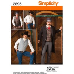 Men's Wild West Costumes Simplicity Fabric Sewing Patterns 2895