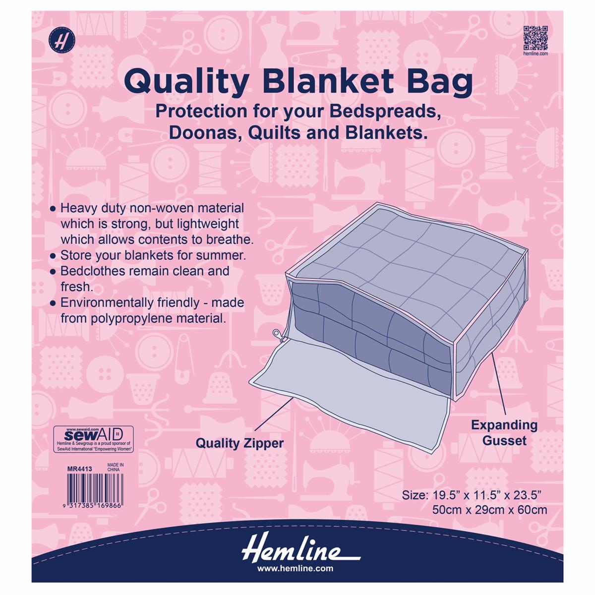 Hemline Blanket Bag Cover...