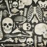 100% Cotton Fabric Springs Creative Halloween Skeleton Boney Yard