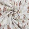 100% Cotton Poplin Fabric Christmas Metallic Houses Xmas Trees Snowflakes