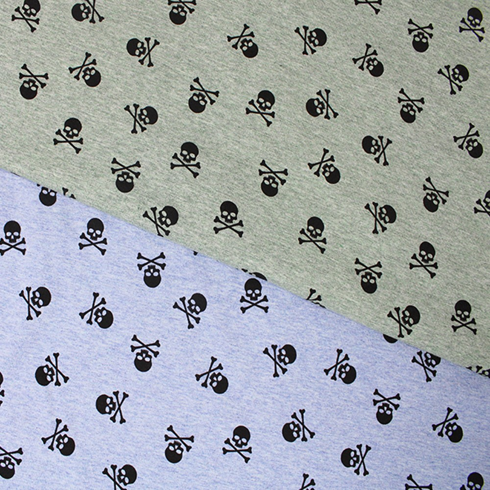 Cotton Jersey Fabric Skulls...