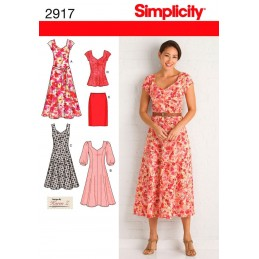 Simplicity Misses' & Plus Size Amazing Fit Dresses Sewing Pattern 2917