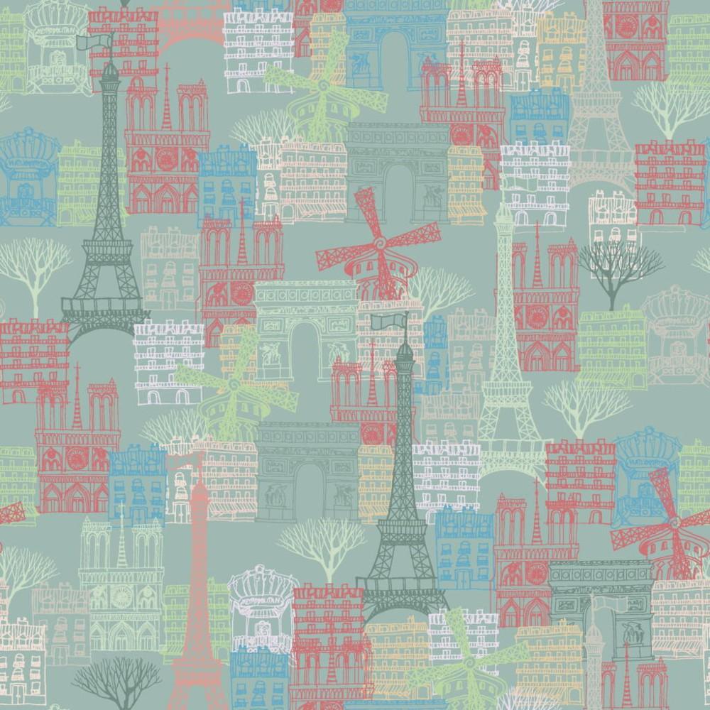 100% Cotton Fabric Paris...