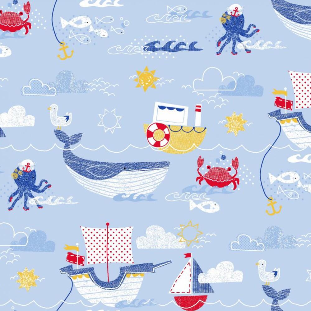 100% Cotton Fabric Nautical...