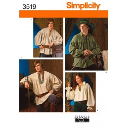 Misses, Men & Teen Costumes Simplicity Fabric Sewing Patterns 3519