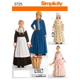 Simplicity Child & Girl Costumes Fabric Sewing Patterns 3725