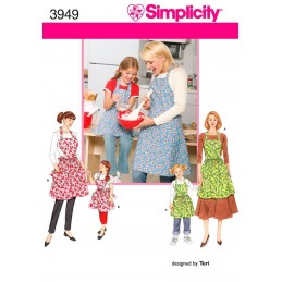 Aprons Craft Simplicity Fabric Sewing Pattern 3949
