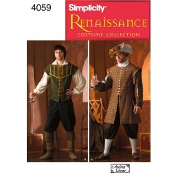 Men's Renaissance Costumes Simplicity Fabric Sewing Patterns 4059