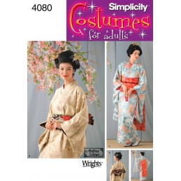 Misses Geisha Costume Simplicity Fabric Sewing Pattern 4080