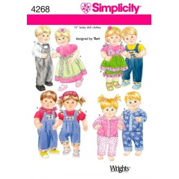 Doll Clothes Simplicity Fabric Sewing Pattern 4268