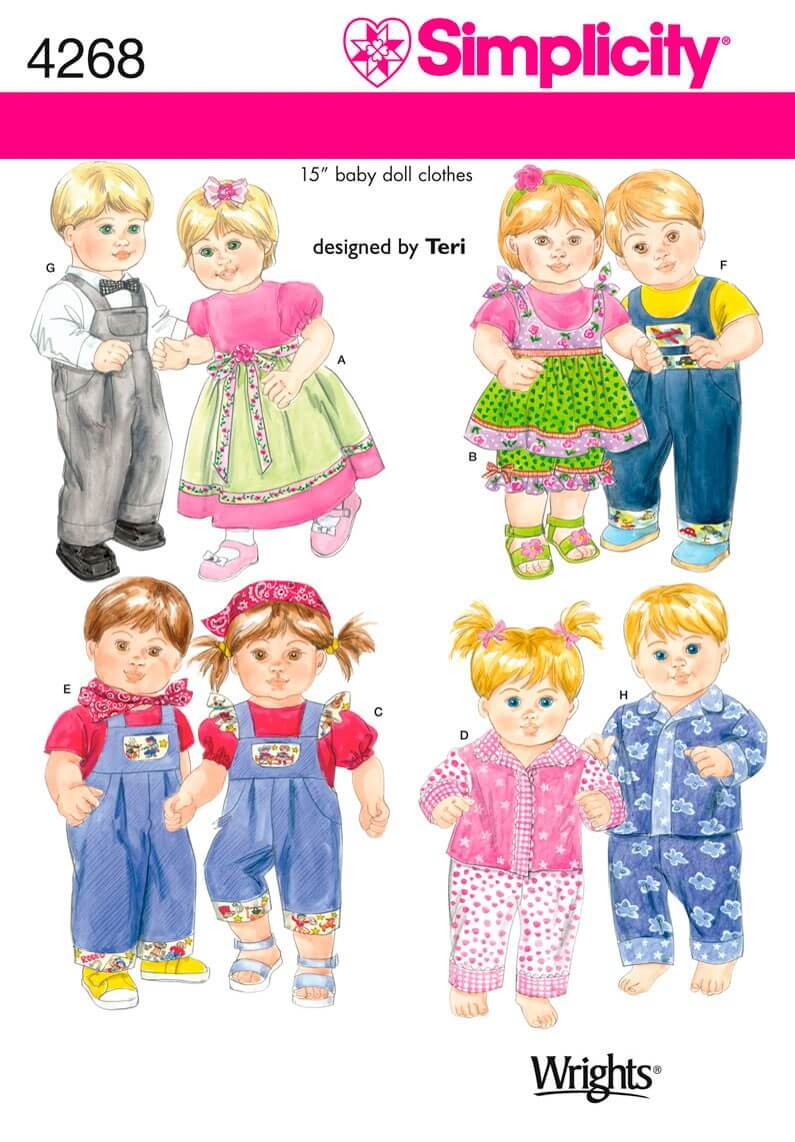 """Simplicity 15"""" Doll Clothes..."""