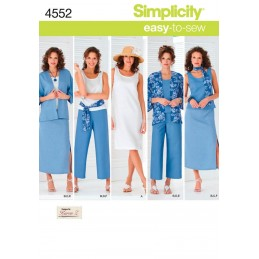 Misses' & Plus Size Smart and Casual Wear Fabric Sewing Patterns 4552