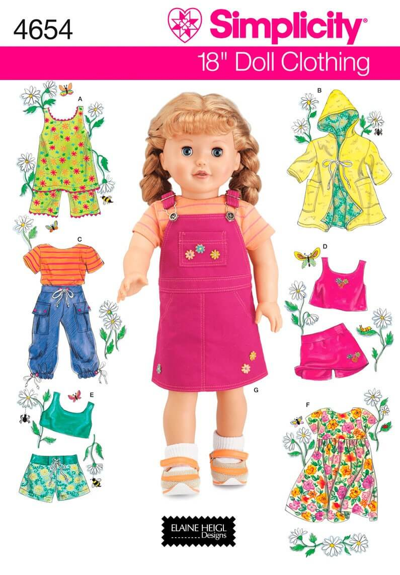 Simplicity 18 Inch Doll...