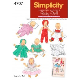 Doll Clothes Simplicity Craft Sewing Patterns 4707