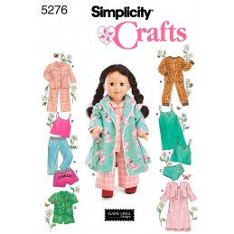 Doll and Clothes Simplicity Fabric Sewing Pattern 5276