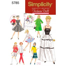 Simplicity 11.5 Inch Doll Clothes Craft Sewing Patterns 5785