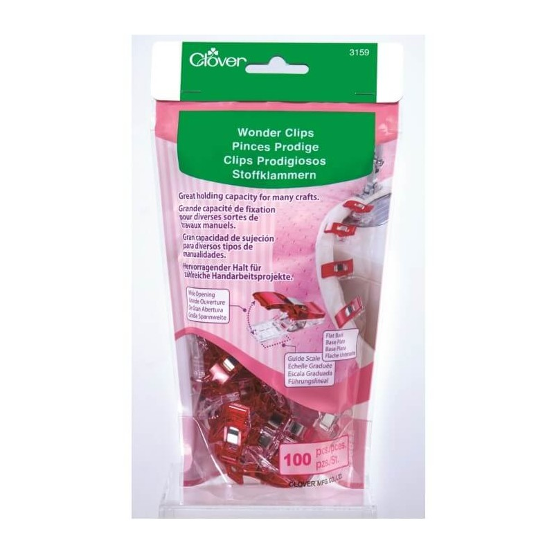 Clover Wonder Clips 10, 50, 100 Or Jumbo Sewing Fabric