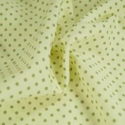 Green 100% Poplin Cotton Fabric Rose & Hubble 3mm Polka Dots Spots