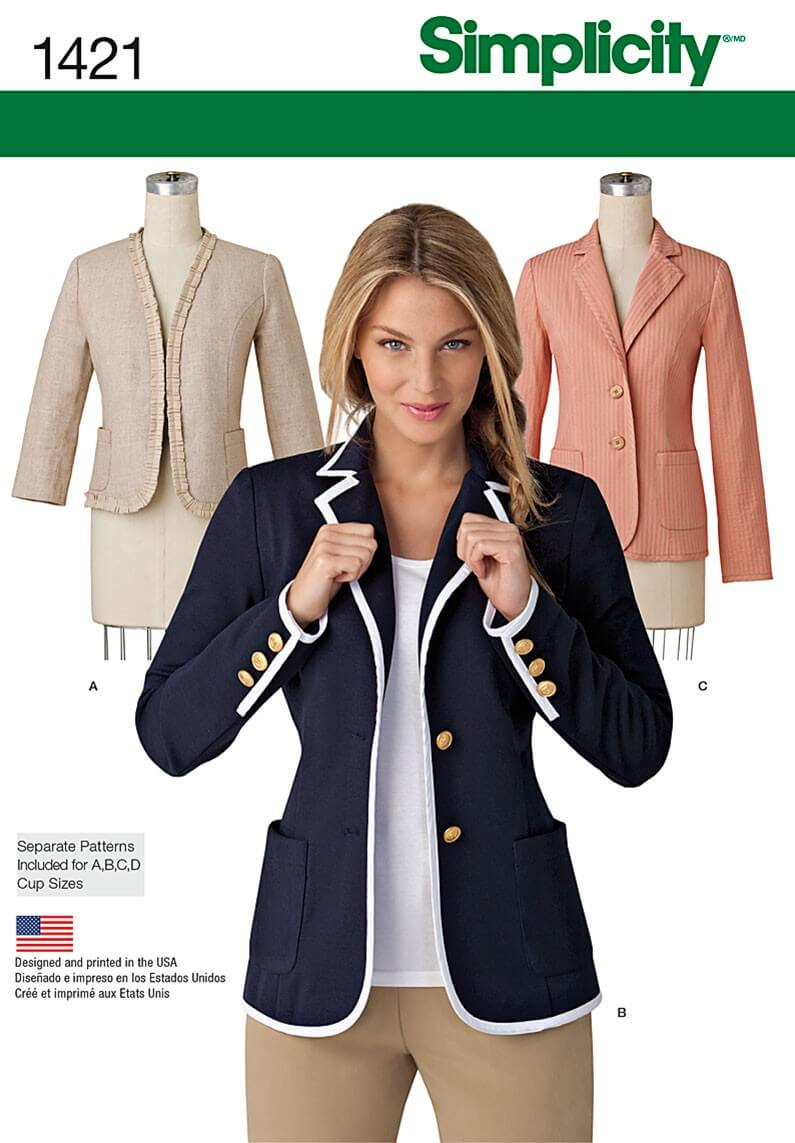Misses Jacket with Collar...