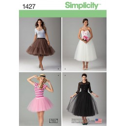 Misses' Tulle Skirt in Three Lengths Simplicity Sewing Pattern 1427