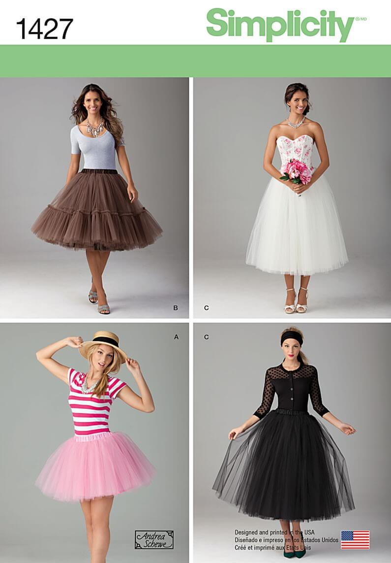 Misses' Tulle Skirt in...