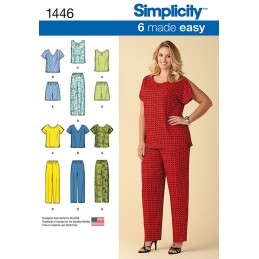 Made Easy Pull on Tops and Pants/Shorts Plus Size Simplicity Sewing Pattern 1446