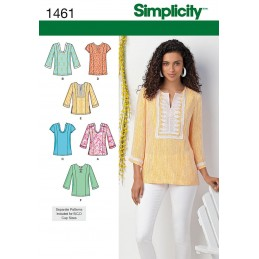 Misses and Plus Tunic With Variations Simplicity Sewing Pattern 1461