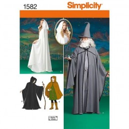 Misses, Men and Teen Costumes Fabric Sewing Patterns 1582