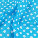 Turquoise Polycotton Fabric 10mm Polka Dots Spots Spotty