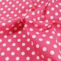 Cerise Polycotton Fabric 10mm Polka Dots Spots Spotty
