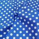 Royal Blue Polycotton Fabric 10mm Polka Dots Spots Spotty